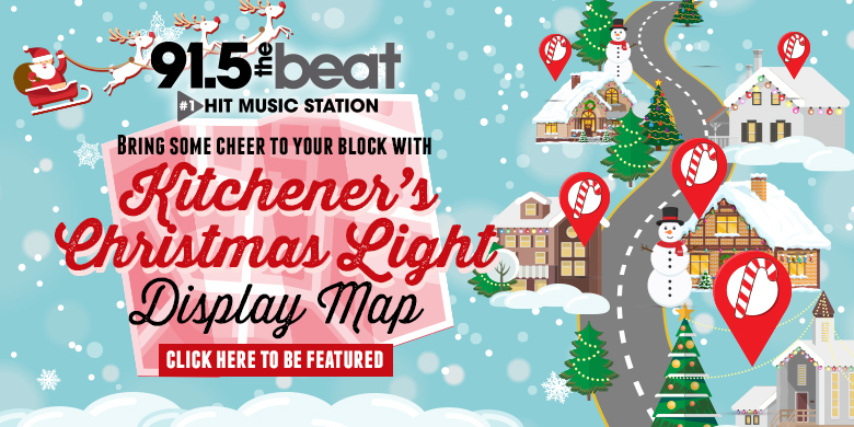 Waterloo Region's Christmas Display Map