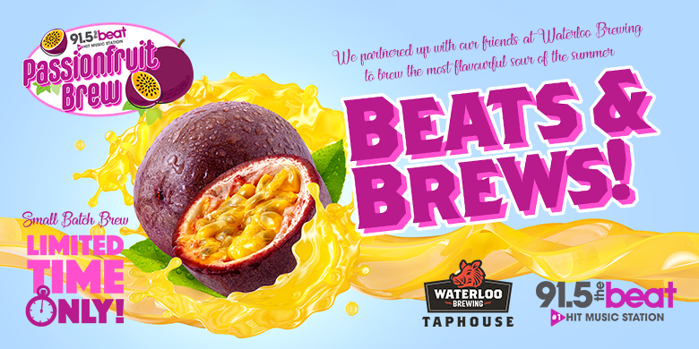 The Beat Passionfruit Brew – available at Waterloo Brewing!